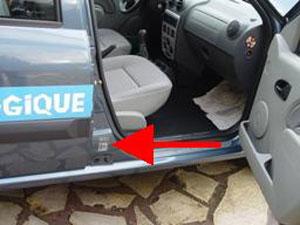 Dacia logan Location type plate