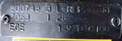 Loation and appearance of the production plate