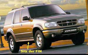 The VIN for Ford EXPLORER + MAVERICK from MY 2003