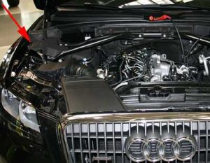 VIN number on Audi Q5