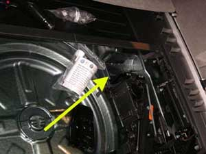 Location of the VIN number on the Audi Q7