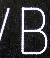 New laser text plat bmw