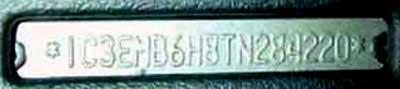 Chrysler Stratus (JA, JX) VIN