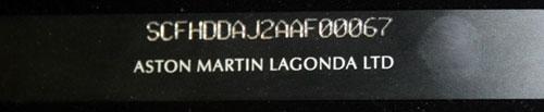 VIN ASTON MARTIN Rapide