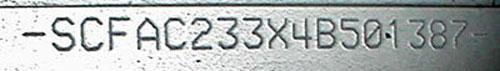 VIN Lettering DB7 Vanquish