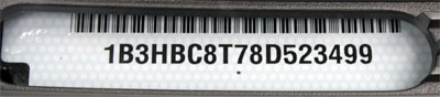 Dodge Caliber PK VIN