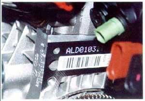 Audi engine number