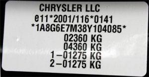 DAIMLER CHRYSLER CORPORATION plate
