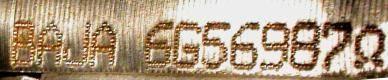 Engine number Fiesta (MY 2006)
