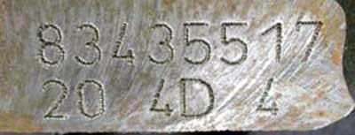 Location on the engine block