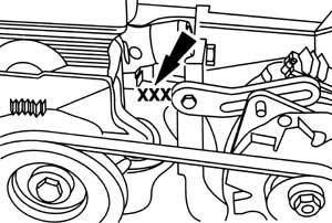 Location of the engine number for ford car