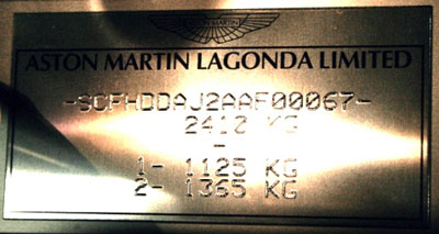 Composition and appearance of the type plates Rapide