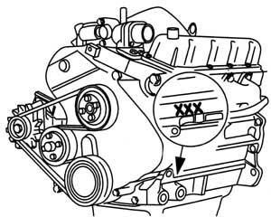 Engine number 2,5 DI (Transit)