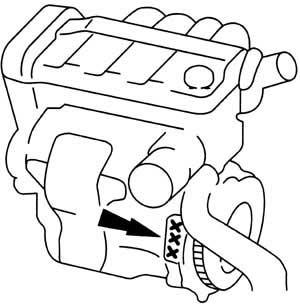 Engine number 2,0 DOHC 16 V (Probe) + 2,5 V6 24 V (Probe)