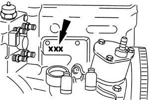 ENGINE NUMBER 1,9 TDI Diesel (Galaxy)