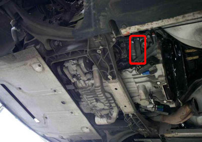 Location of the engine number Aston Martin V8 Vantage 2005 cylinder engine