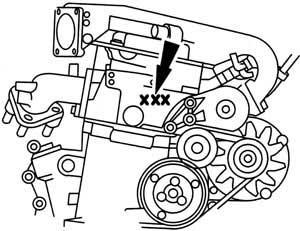 ENGINE NUMBER 2,8 i CD-V6 (Galaxy