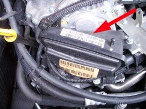 Engine number sticker