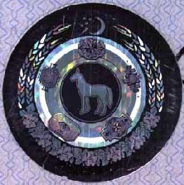 Cinegram vehicle registration certificate of Turkmenistan
