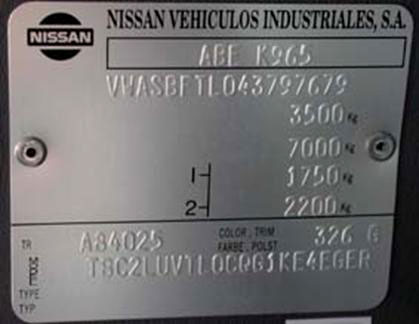 Nissan chassis number check