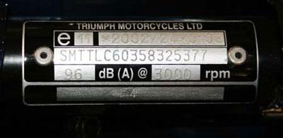 Triumph engine