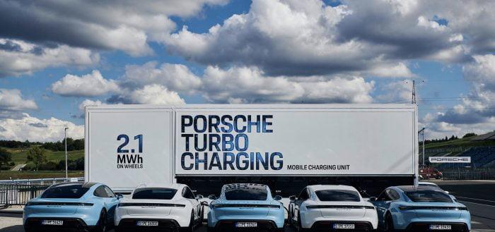 Porsche unveils 2.1 MWh Megapack charging station