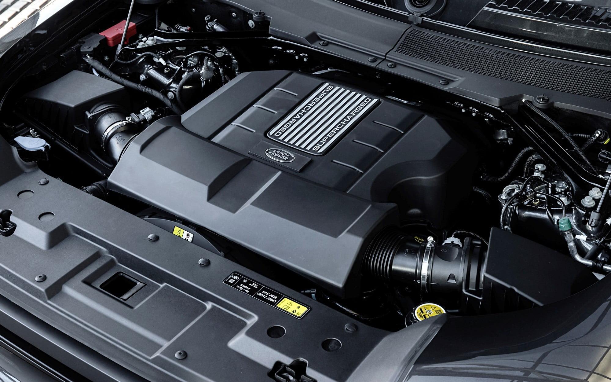 Engines power Land Defender V8